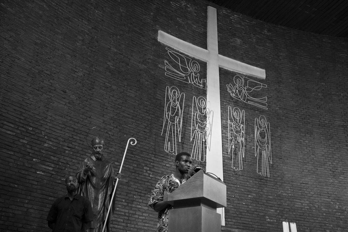 Tancament d'immigrants subsaharians a l'església de Sant Bernat Calbó del Poblenou de Barcelona