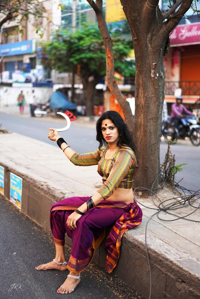 Una manifestant pels drets LGBT a la India