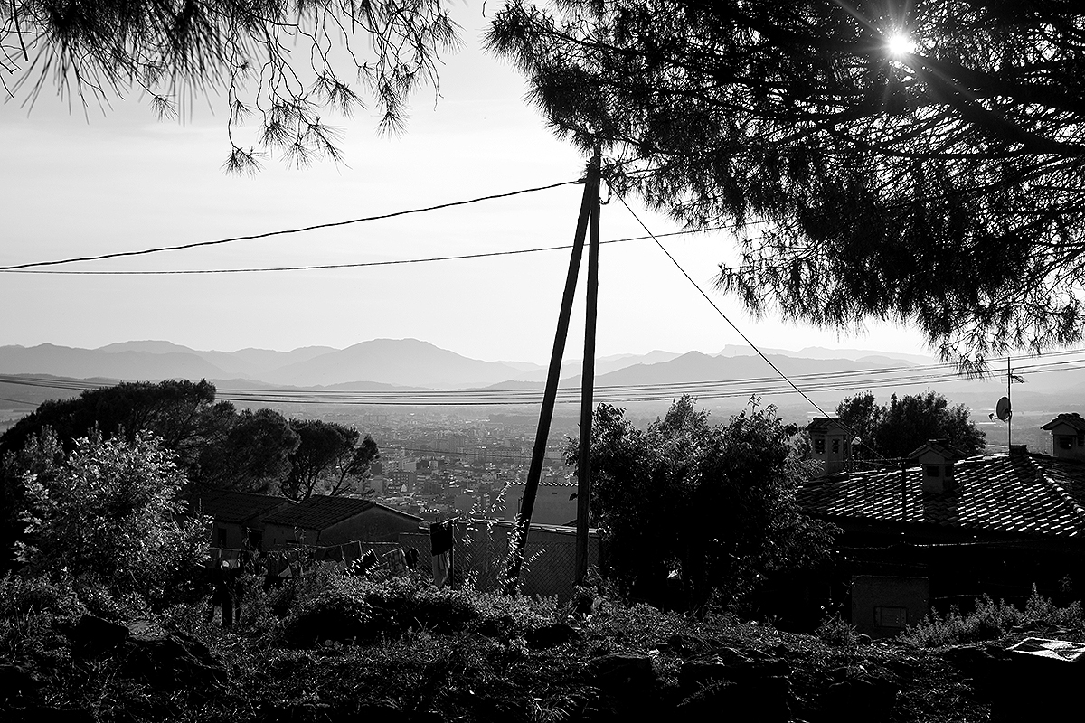 Girona vista des de les afores, a Les Pedreres.