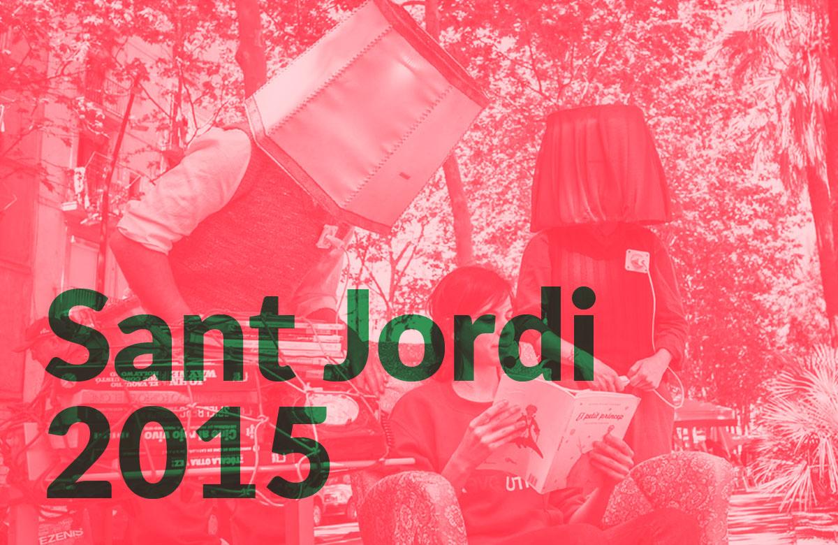 Fotografía de JJ Román que muestra el Sant Jordi 2015 en Ciutat Vella, en el Raval